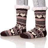 Christmas Jacquard And Velvet Anti-ski Socks
