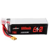 URUAV 22,2V 6000mAh 75C 6S Bateria Lipo XT60 Wtyczka do śmigłowca RC 600 700 800