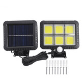 50W COB Solar Wall Street Light Motion Sensor Outdoor Yard Garden Driveway Lamp