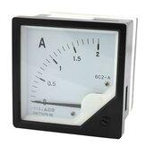 6C2-A 10A/50A / 100A / 200A Ponteiro de painel quadrado Amperímetro AC Amperímetro analógico
