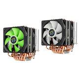 Aurora 3 broches double ventilateur 6 tube de cuivre double tour CPU refroidissement ventilateur refroidisseur radiateur pour Intel AMD