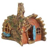 Resin Tree House Aquarium Decoration Home Fish Tank Hiding Castle Cave Ornament