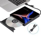 Unidade óptica externa USB-C USB 3.0 Type-C Leitor de CD / DVD Gravador de DVD para PC Laptop Windows