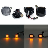 LED Side Marker Indicator Lights Lamps Black Smoked Yellow 2PCS For Audi Seat Skoda
