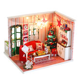 iiecreate CF-04 DIY Assembled Doll House Christmas Gift Toy with LED Light