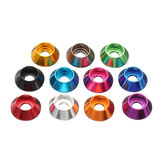Suleve™ M2AN2 10Pcs M2 Cup Head Hex Screw Gasket Washer Nuts Aluminum Alloy Multicolor Optional