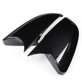 2Pcs Car Carbon Fiber Style Rear View Side Mirror Trim Cover Caps For Honda Civic 2016-18