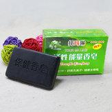 40g Doğal Bambu Kömür Sabun Yüz Vücut Bakımı Yağ Kontrol Beyazlatma Anti-akne Cilt Bakımı Sabun Siyah Nokta Sökücü Banyo