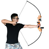 54'' 30-40lbs Archery Bow Straight Long Bow Compound Hunting Shooting Practice Takedown Bow Stand