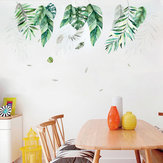 Miico FX82019 2 PCS Botanic Leaves Wall Sticker Decorative Sticker Removable Sticker DIY Sticker