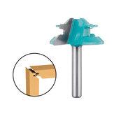 Drillpro 1/4 de polegada Haste 45 graus Lock Mitre Router Bit 1-1 / 2 Polegada Diâmetro de corte Tenon Cortador de madeira