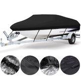 11-13ft 14-16ft 17-19ft 20-22ft Bot Kapak UV Korumalı Premium Ağır Hizmet Tipi 210D Yüklenebilir Tuval Siyahı