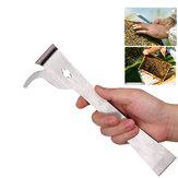 KCASA Bee Honey Beekeeping Tools Set Stainless Steel Thumb Type Bee Hive Scraper Beekeeping Scraper Beekeeping Cutter Honey