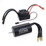 Surpass Hobby 3660 Waterproof 4Pole¢3.175mm Unsensed Brushless RC Car Motor+60A ESC For 1/8/10 Vehicle Models