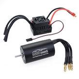 SuperarHobby3660Impermeable4polos ¢ 3.175 mm sin detección Sin escobillas RC Coche Motor + 60A ESC para modelos de vehículos 1/8/10