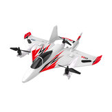 JJRC M02 2.4G 6CH 450mm Envergadura EPO Brushless 6-axis Gyro Aerobatic RC Airplane RTF 3D / 6G Aeronaves