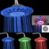 7 Colors Automatic LED Light Changing Round Top Shower Head Bath Rainfall Showerhead High Pressure