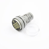 10pcs White LED 22mm DC Voltage Measuring Instrument Mini Voltagemeter DC6~100V AD101-22VM Indicator Voltmeter