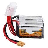 ZOP Power 22.2V 1000mAh 85C 6S LipoバッテリーXT30 FPVレーシングドローン用プラグ