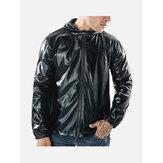 Mens Fashion Reflective Hooded Jacket