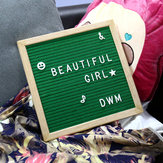 25.4*25.4cm Felt Letter Board Wooden Frame Message Board Sign Letter Holder