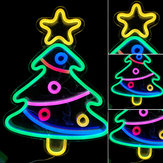 Christmas Tree Rope LED Neon Light USB Lamp Party Bar Bedroom Wall Decoration