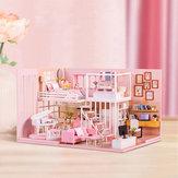 DIY Yaratıcı El Yapımı Ev Eğitici Oyuncaklar Kız Kalp Doğum Günü Hediyesi Doll Evi