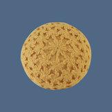 Boinas de lã de flor oca tricotadas à mão Melão vintage Chapéu Pintor de malha Chapéu