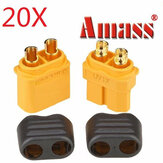 20pcs Amass XT60+ Plug Male & Female Connectors With Sheath Housing