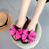 Women Flower Open Toe Casual Summer Beach Slippers