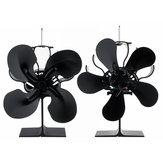1500RPM 4/5 Lâminas Fogão Ventilador Lareira Silenciosa Fogo Alimentado Por Calor Economia Eco Ventilador Sem Eletricidade & Bateria