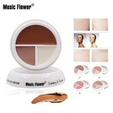 usic Flower Full Cover 3 In 1 Press Concealer Cream Face Smo