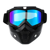 Detachable Motorcycle Face Mask Shield Goggles Off Road Motocross MX ATV Dirt Bike Glasses Eyewear