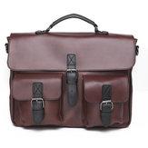 PU Deri Çanta Evrak Çantası Messenger Omuz Çanta Dizüstü Çanta Iş Sırt Çantası