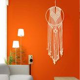 Rodada retro artesanal borla macramê tapeçaria tapeçaria decoração da sua casa