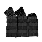 ZANLURE 1000D Nylon Molle Tactical Bag Triple Magazine Pouch For Camping Hunting