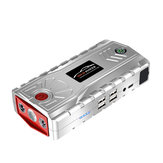 Portable Car Jump Starter 15000mAh 800A Peak Powerbank Emergency Battery Booster Digital Charger with LED Flashlight USB Port Silvery