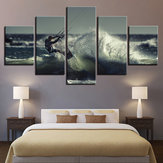 5PCS Modern Home Room Wall HD Art Picture Surfing Spray Painting Decor Walls Sticker