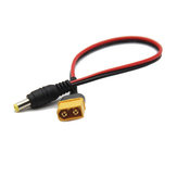 Amass 200mm XT60 Male Connector to Male DC 5.5X 2.1mm Adapter Power Cable For FPV Goggles Battery