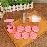 Molde redondo do molde do cozimento do bolo de Mooncake 6 selos Fower Moon Cake Baking Tools Decor