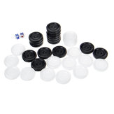 32 Pcs Chess + 2 Pcs Dice for Air Currents Checkers Backgammon Chess Outdoor Recreation for Kids Camping Learning Board Game