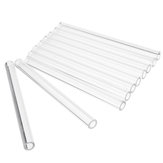 10Pcs Length 100mm OD 7mm 2mm Thick Wall Borosilicate Glass Blowing Tube Lab Factory School Home
