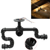 3 Way Industrial Steampunk Staggered Vintage Iron Pipe Chandeliers Ceiling Light Decorations