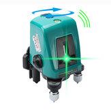 Foucault FC-435AG Mini Eğik Eğik İşlev Hattı ile Lazer Seviyesi Projektör 2 Hat 1 Parlatma Noktası Yeşil Işık