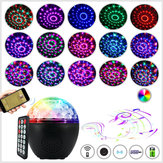 16 Colors bluetooth Speaker Disco Ball Mini Music Audio Stage Light Remote Control Portable Projector Club Party