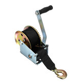 1200LBS 544KGS Hand Winch Gear 2-Way Synthetic Boat Tailer Camper with 8M Strap