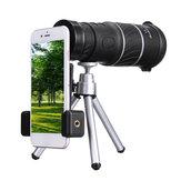 40X60 HD Monokularteleskop Outdoor Camping Jagdfernrohr Monokular mit Stativ Handy Clip