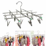 Stainless Steel Folded Socks Drying Rack Hanging Pins Clip Laundry Clamp 20