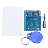 RFID-RC522 RF IC بطاقة قارئ المستشعر وحدة مع S50 فارغة بطاقة وخاتم مفتاح ل Raspberry بي ، 40pin ذكر إلى أنثى Jumper أسلاك RFID العلامة
