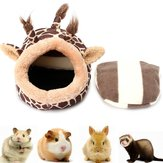 Petit lit pour animaux de compagnie Giraffe Cat Dog Sleeping House Kennel Puppy Cave Mat Pad Nest